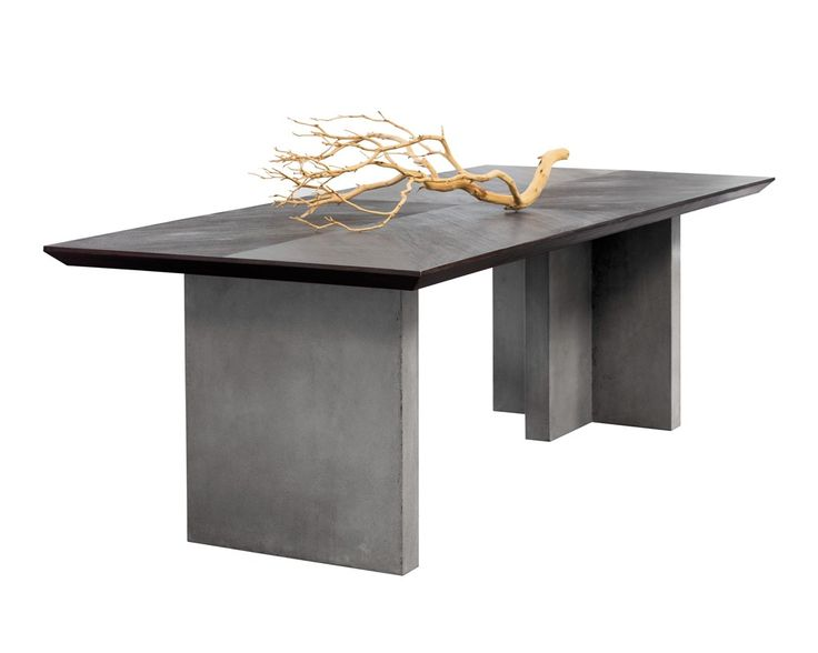 This Dining Table From Our MIXT Collection Commands Attention Featuring A  Rich Acacia Wood Top With Beveled Edges.