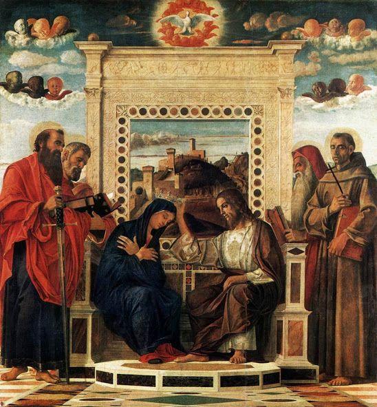 Pala di Pesaro: Incoronazione della Vergine (1470-1475 circa; Pesaro, Musei Civici)
