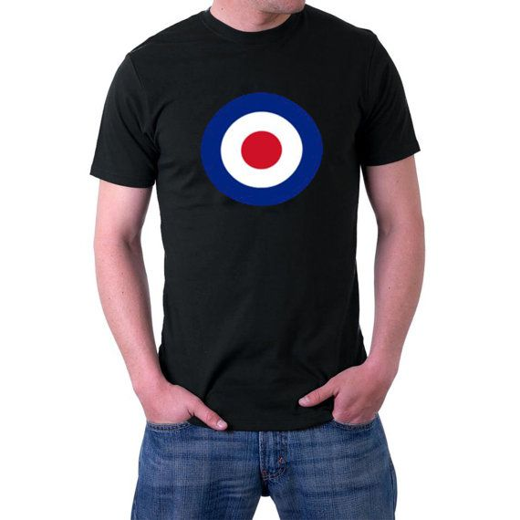 #RAF Roundel T-shirt.Well they helped defend these islands in 1940, and now their roundel has pulled Bradley Wiggins around to win the Tour de France and an Olympic Gold Med... #flag #britain #war #wwii #airforce #military #mod #raf #spitfire #uk #4xl #5xl