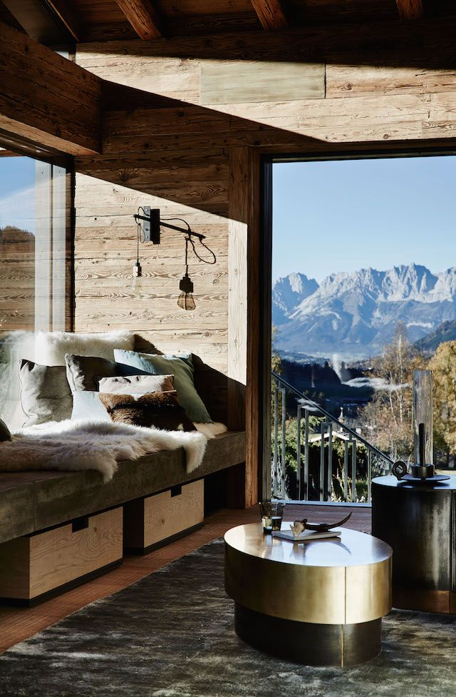 A magnificent chalet in the Austrian Alps designed by Bernd Gruber.