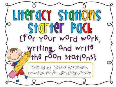 Great ideas for literacy stations