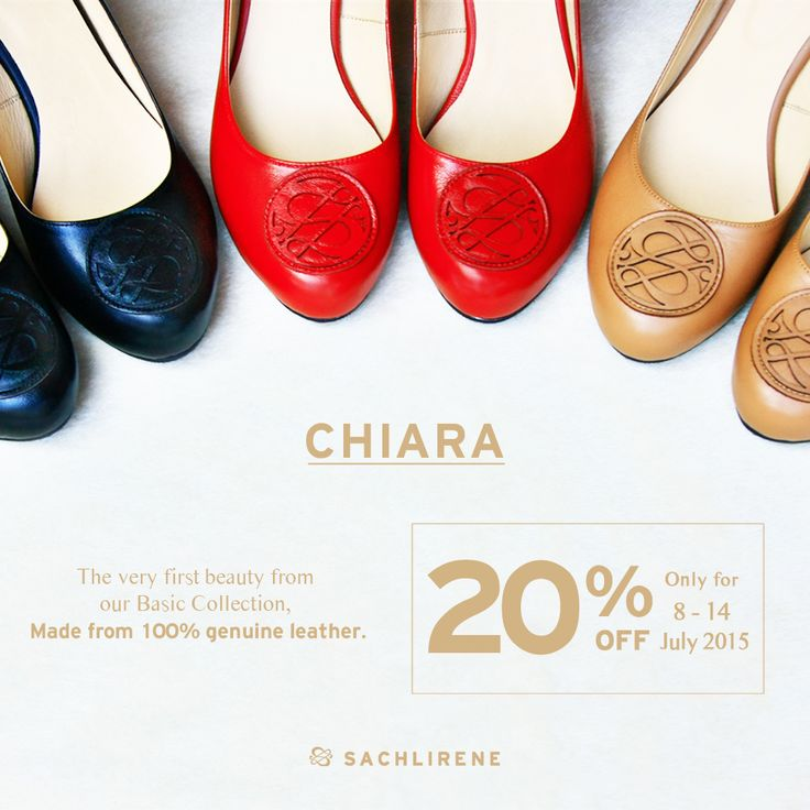 NEW LAUNCHED on www.sachlirene.com/id ! CHIARA, the comfort yet stylish 8,5 cms basic wedges. Made from 100% genuine leather. From college - office - to party, you can rely on CHIARA.  FANTASTIC DEAL ! Get 20% off for this product only at 8-14 July 2015. Caution : LIMITED stock! ;) #sachlirenechiara