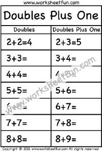 28 best Doubles & Doubles Plus One images on Pinterest | Printable ...