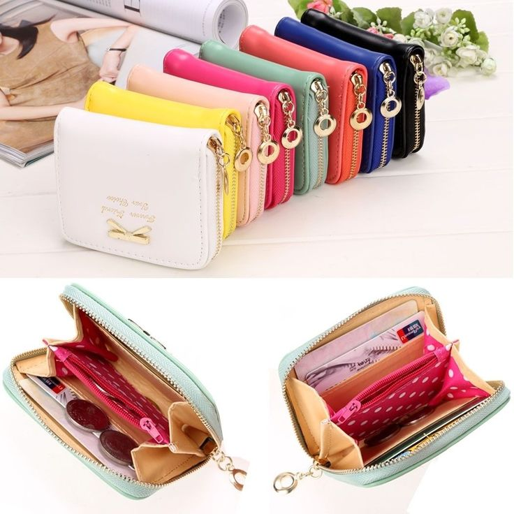 2017 High Quality Brand Wallet Women Bowknot Small Purse Pu Artificial Leather W