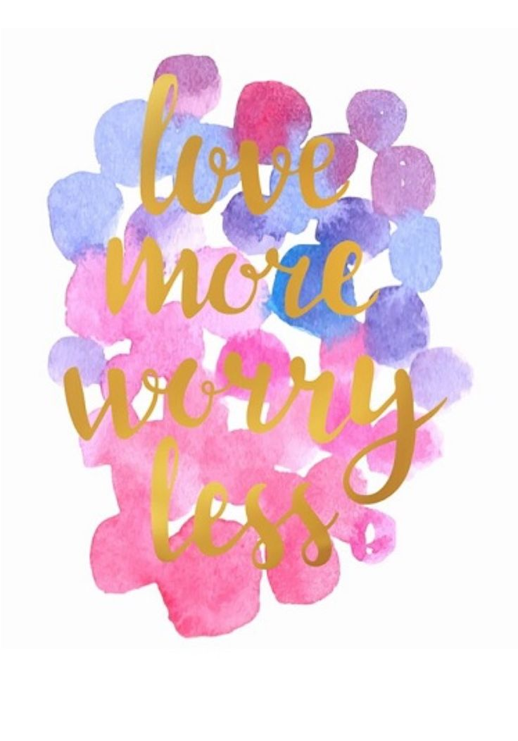 Love More Worry Less canvas