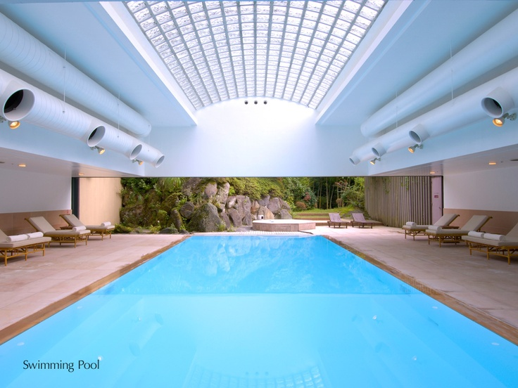 Heated swimming pool with Jaccuzi