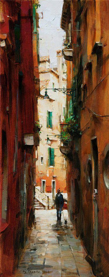 Venice Evening | Dmitri Danish [Дмитрий Даниш] 1966