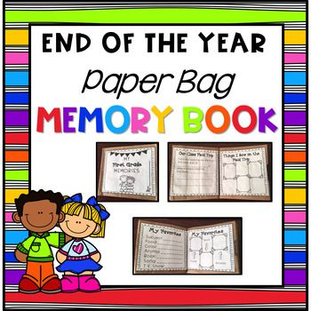 This End of the Year Paper Bag Book Includes **Updated for the 2017-2018 school year ***Instructions for Easy Assembly ***Pre-K through 5th Grade Pages ***My School ***My Teacher ***All About Me ***What I Look Like ***My Favorites ***My Class Field Trip ***What I Saw on My Class Field Trip ***What I Learned in Math ***What I Learned in Reading ***What I Learned in Science ***What I Learned in Social Studies ***Top 5 School Lunches ***Top 5 Recess Games ***Top 5 PE Games ***Top 5 F
