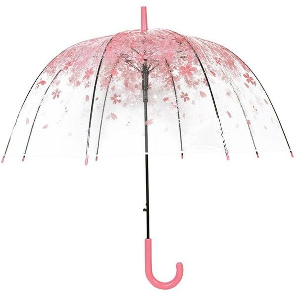 Amazon.com | XUANLAN Transparent Cherry Blossom Bubble Dome Umbrella,... ($18) ❤ liked on Polyvore featuring accessories, umbrellas, clear bubble umbrella, transparent umbrella, bubble umbrella, see through umbrella and pink umbrella