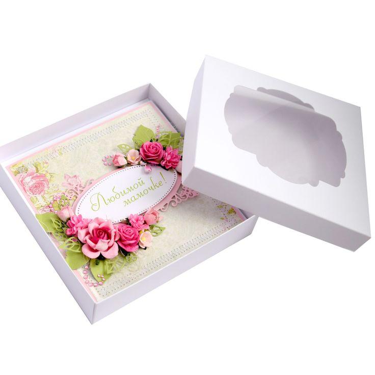 Открытка коробка для мамы, негатив фото картинка