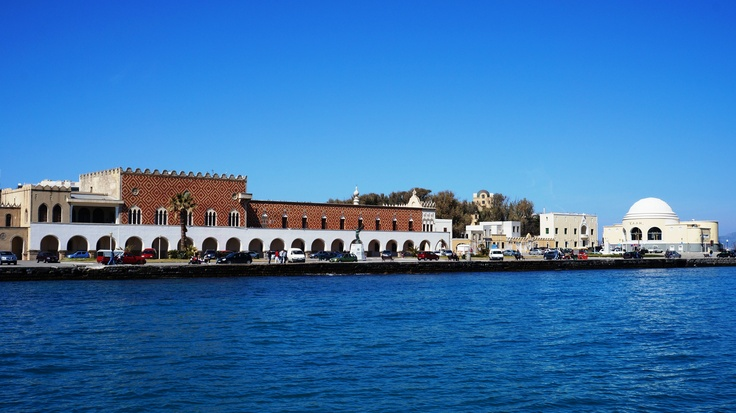 Rhodes Island Greece - Mandrake harbor - The Administration Building