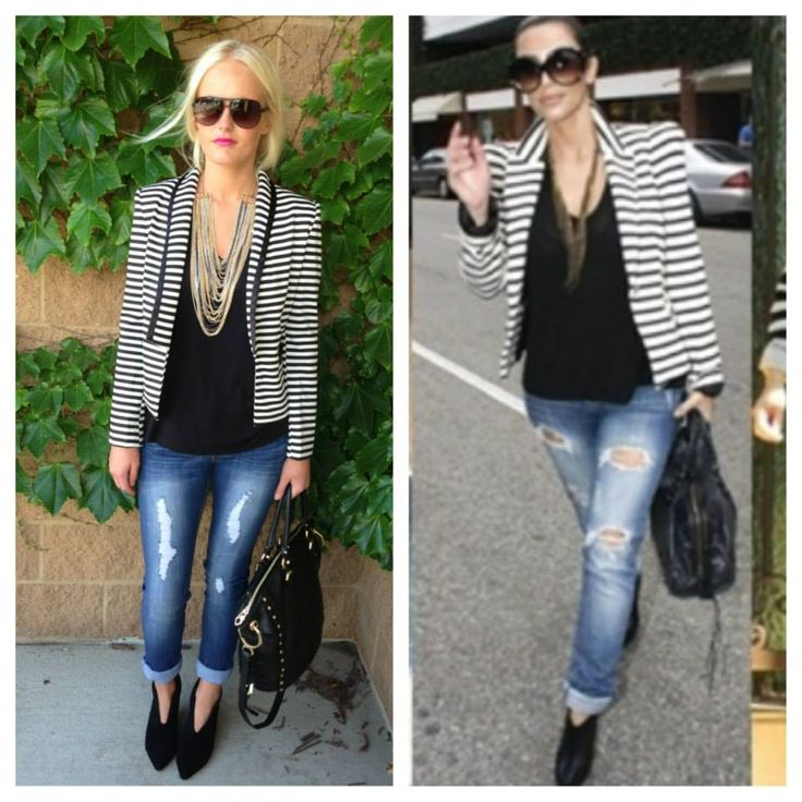 black and white striped blazer !....maybe my outfit to p!nk concert?!