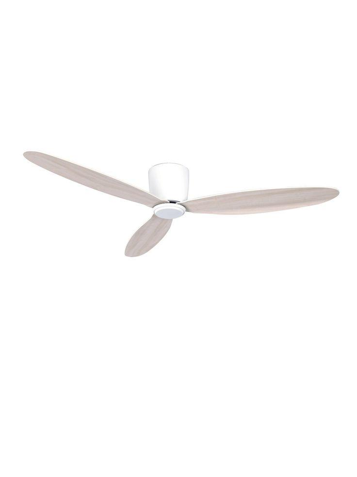 Airfusion Radar 132cm Dc Fan In White Oak White Oak Oak Fan