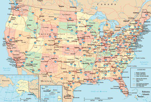 Quick Guide To The U S Interstate Highway System Highway Mapmaps