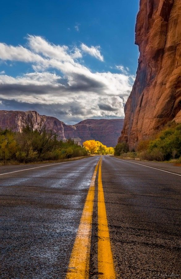 Glow after the rain by Jack Gillum (Near Colorado River, Moab, Utah)