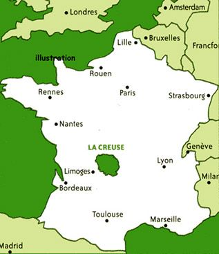 LA CREUSE . The Creuse , a department in FRANCE.