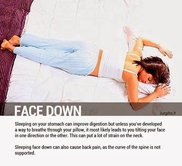 Face Down - 8 Sleeping Positions and Their Effects On Health