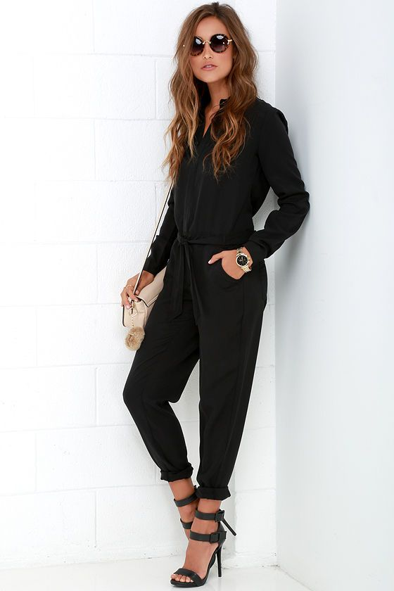 17 Best ideas about Black Jumpsuit With Sleeves on Pinterest ...