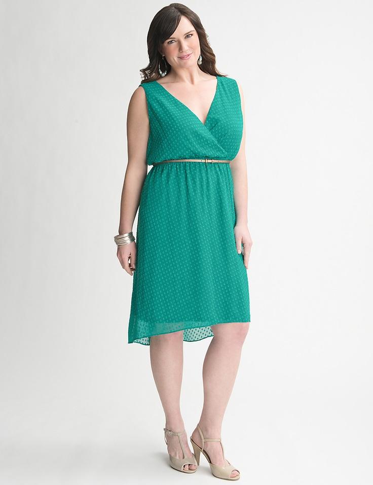 Lane Bryant Clip Dot Dress