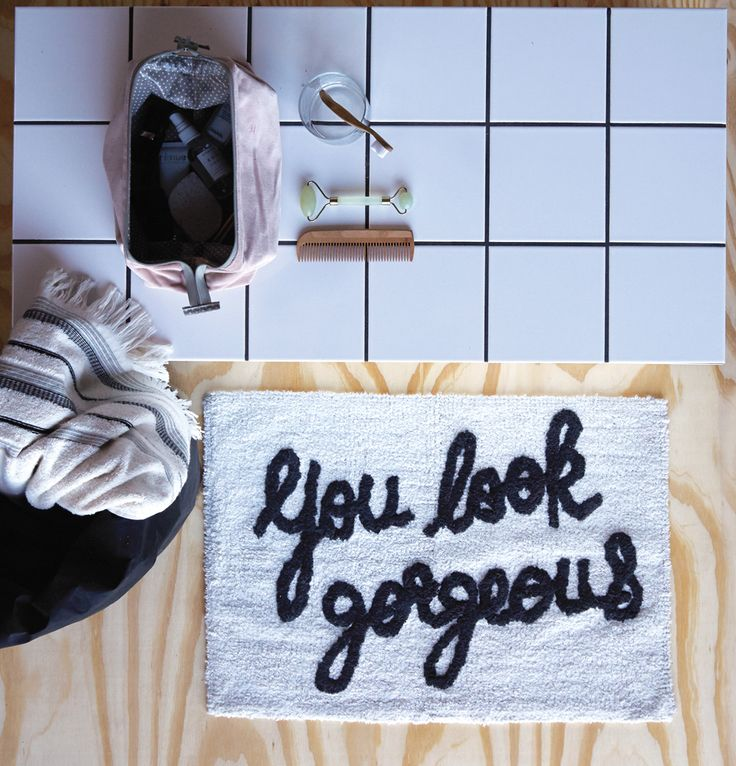 A.U Maison SS17. #aumaison #interior #homedecor #styling #danishdesign #bathroom #bathmat #quote