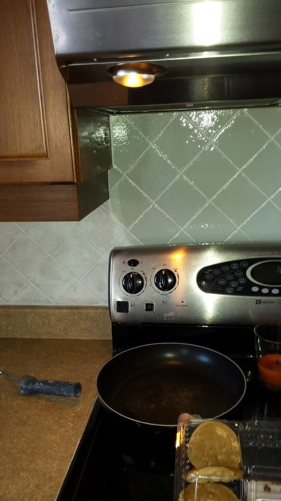 Instead of replacing your backsplash, this will fit your budget!