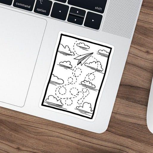 Ich bin so froh, dass jemand dachte, dieser Aufkleber mit einem älteren Jahr #inktober Drawi … – Paperplanes