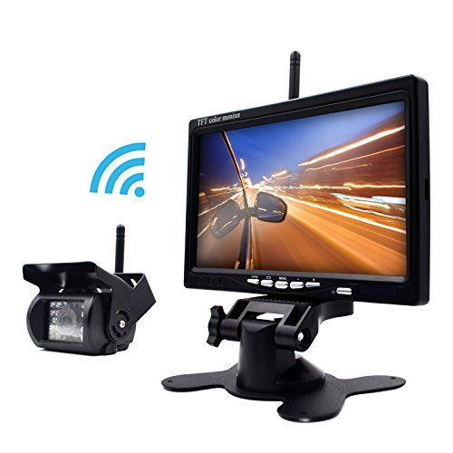eRapta ERW01 Wireless 7 Inch Waterproof Backup Camera and Monitor System for Semi-Trailer/Box Truck/RV Trailer/Motorcoach/5th Wheel/Trailer/Bus Use as a Full-Time Rear View Monitor or Back-Up Camera - http://www.caraccessoriesonlinemarket.com/erapta-erw01-wireless-7-inch-waterproof-backup-camera-and-monitor-system-for-semi-trailerbox-truckrv-trailermotorcoach5th-wheeltrailerbus-use-as-a-full-time-rear-view-monitor-or-back-up-camera/  #Backup, #Camera, #ERapta, #ERW01, #Full