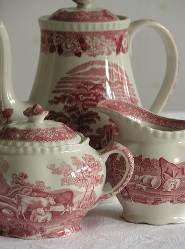 I love transfer ware the best of all my tea things!