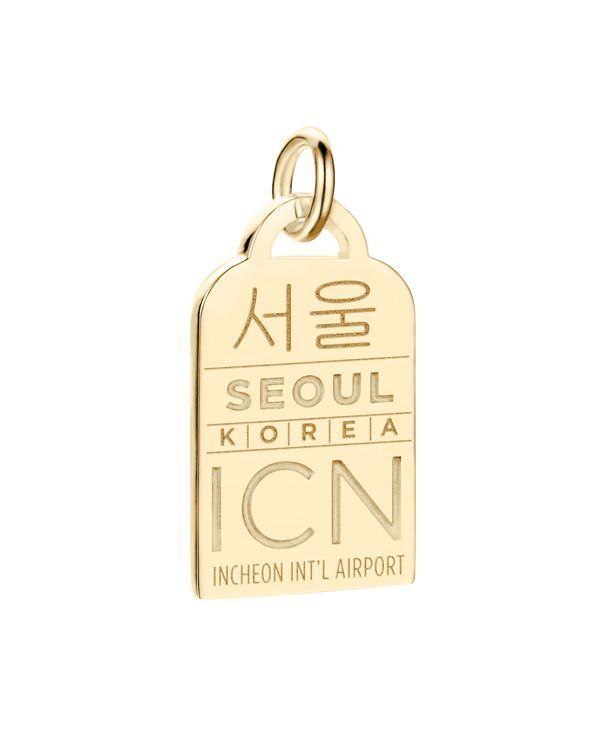 Jet Set Candy Icn Seoul Luggage Tag Charm