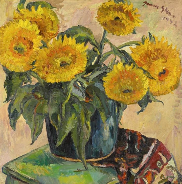 Irma Stern - SUNFLOWERS, 1942, oil on canvas