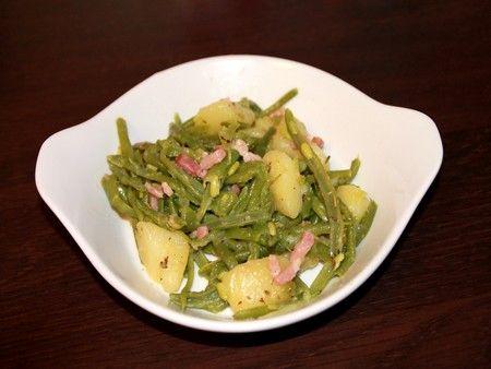 Recette poêlée complète haricots verts pdt lardons, cuisinez poêlée complète haricots verts pdt lardons