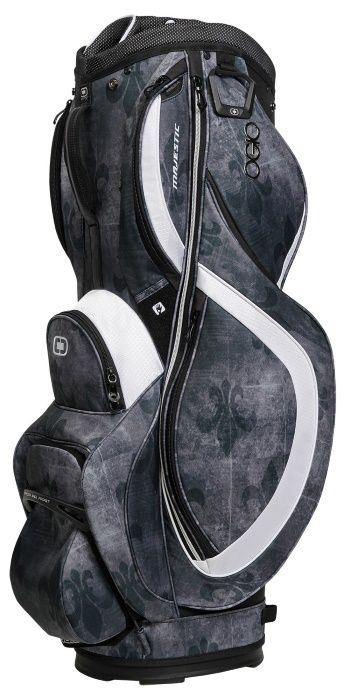 Fleur De Lis / White Ogio Women's Majestic Golf Cart Bag! Find the best golf bags at #lorisgolfshoppe
