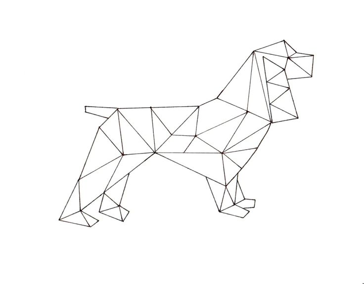 Affichage de Geometric Spaniel Printable Art.jpg