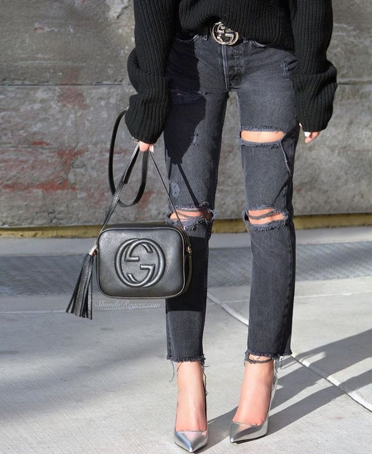 All black outfit - Gucci disco