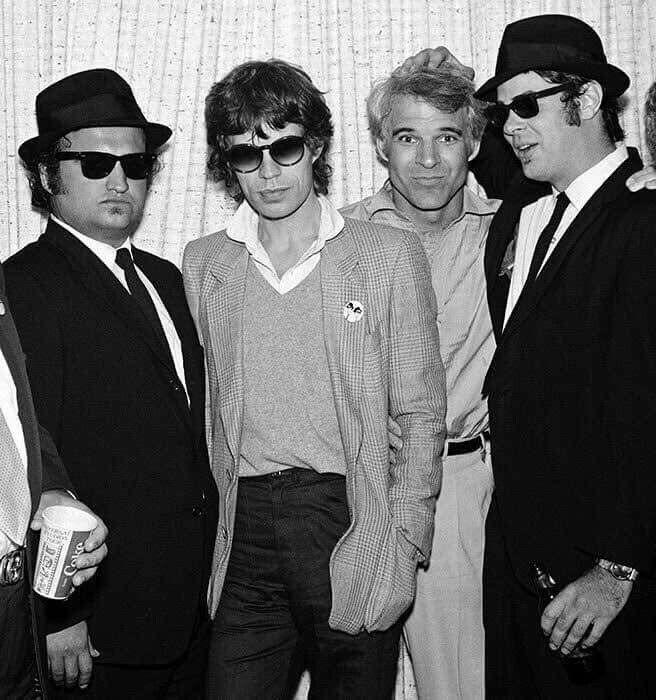 John Belushi, Mick Jagger, Steve Martin and Dan Aykroyd.