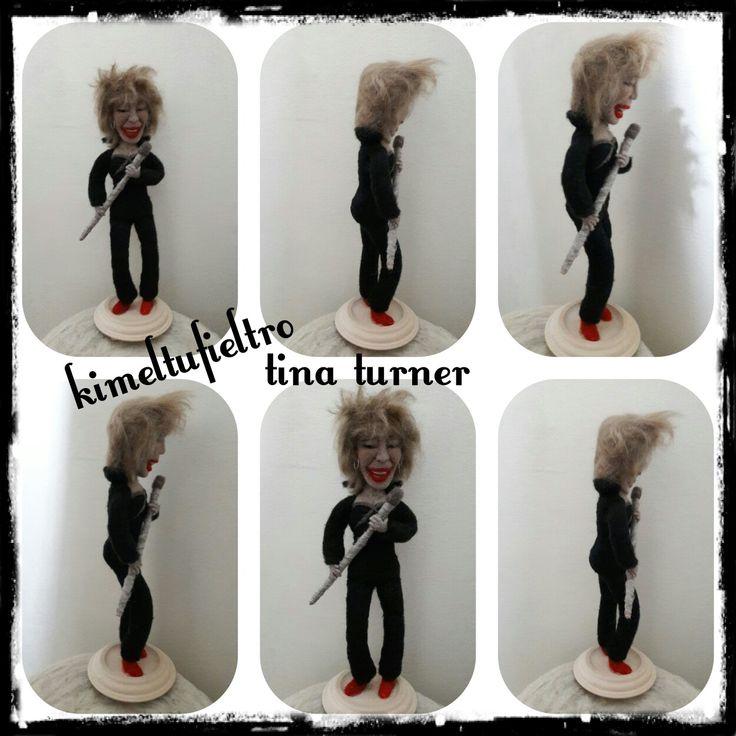 Tina turner Figura de fieltro con aguja