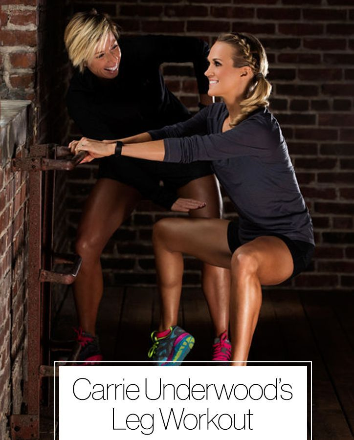 Carrie Underwood's killer leg workout. How the country singer maintains her toned legs and