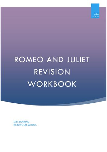 gcse romeo juliet coursework The overview of gcse (9–1) in english literature (j352) learners must complete both components (01 and 02) to be awarded the gcse (9–1) in english literature.