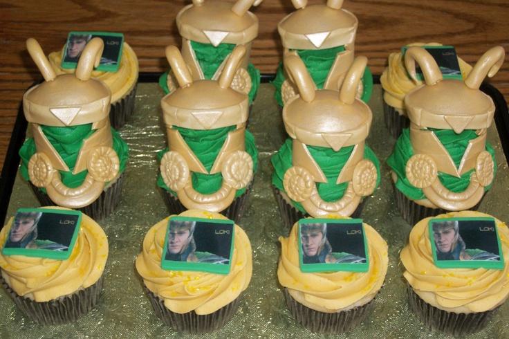 Avengers Loki Cupcakes My Passion Pinterest