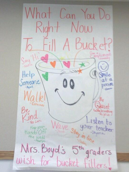 I LOVE bucket filling
