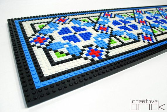 LEGO wall decoration inspired after romanian by CreativeBrickRo