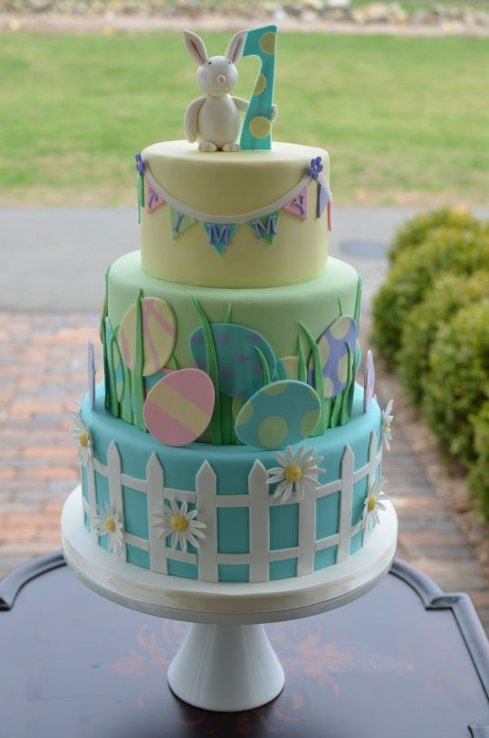 Easter Themed Birthday Cake - For all your Easter cake decorating supplies, please visit http://www.craftcompany.co.uk/occasions/easter.html