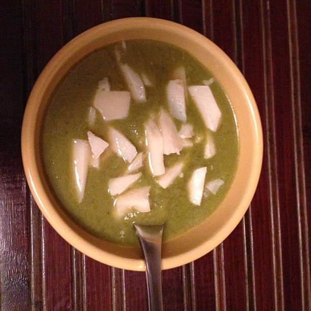 Soup with chunks of #cdncheese Hello Winter! #simplepleasures #soup #greatcombo