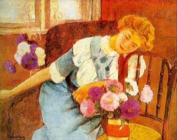 """Lorica with Chrysanthemums"" (1913) by Ştefan Luchian"