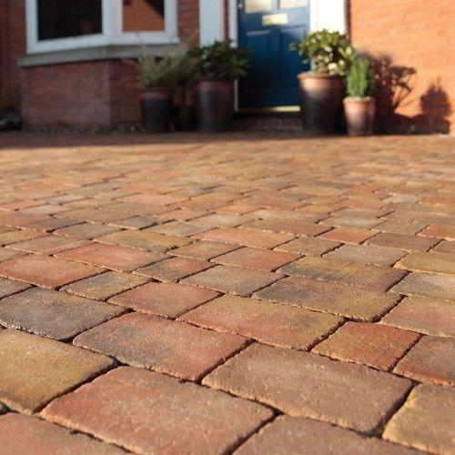 Bradstone, Woburn Rumbled Block Paving Autumn 100 x 134 x 50 - 8.98m2 Per Pack - Premium - Block Paving