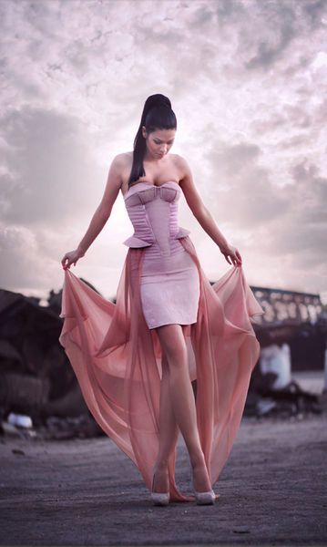 Pink and sheer by Denis Predescu
