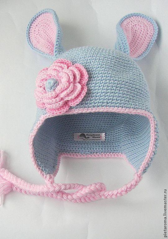 """Купить шапка """"ЗАЯ"""" - шапка, шапка вязаная, шапочка, шапочка для девочки, шапочка крючком"""