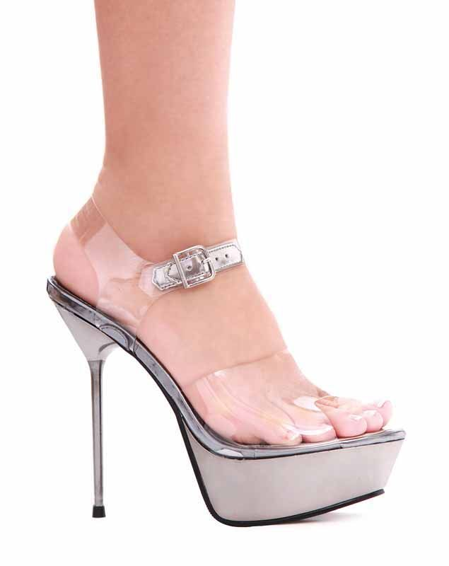 5 Inch Metallic Stiletto Heel Clear Sandals Womens Sexy High Heel Sandals  From Ellie Shoes - Bags or Shoes Shop