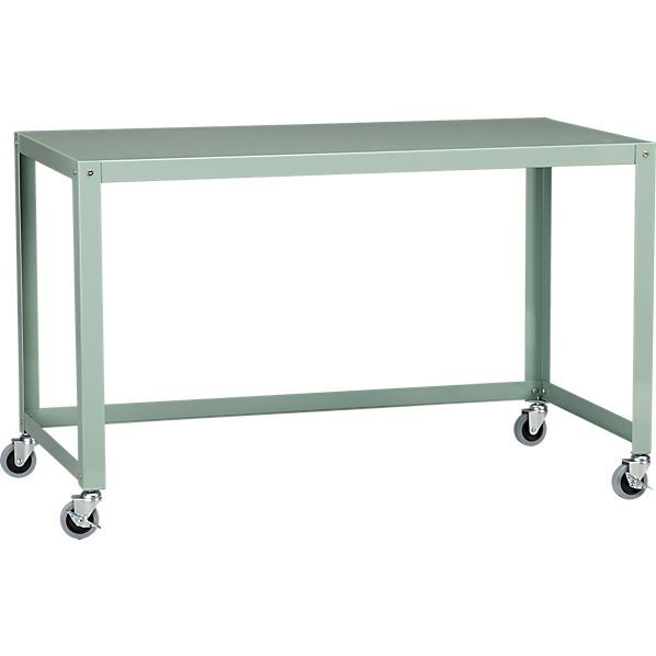 """CB2 go-cart mint rolling desk also in black or white  $149  47.75"""" W  x  23.75"""" D  x  29.5"""" H"""