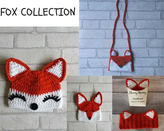 FOX CROCHET PATTERN collection fox crochet patterns fox hat